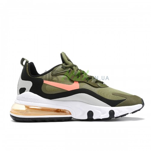 Air Max 270 React Olive Black Orange White