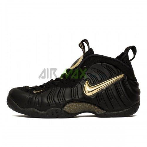 Air Foamposite Pro Black Metallic Gold 624041-009